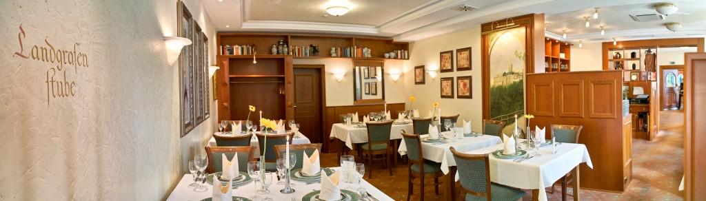 Blick in die Landgrafenstube im Hotel Thalfried